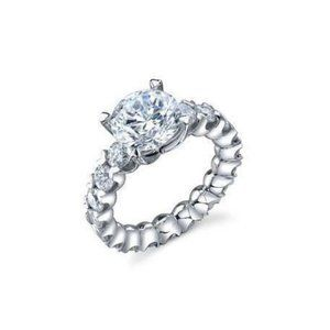 3.30 Carats sparkling round cut diamonds wedding r